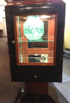 Unique Art Deco Display Cabinet Vitrine with Lights