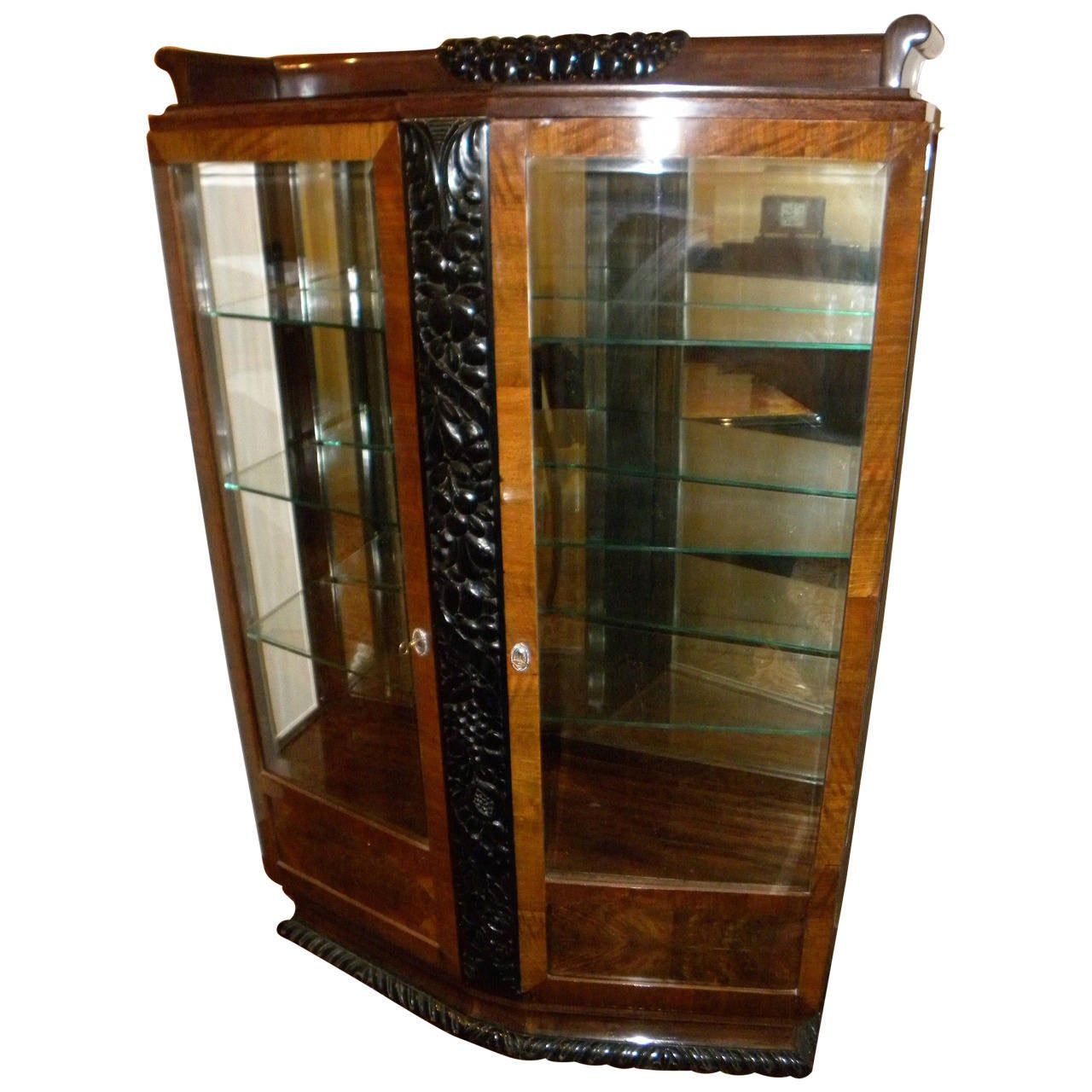european art deco vitrine display case at 1stdibs. Black Bedroom Furniture Sets. Home Design Ideas