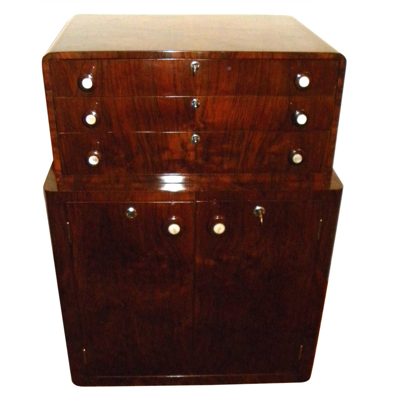 Prohibition Era Art Deco Bar Cabinet At 1stdibs