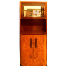 Important French China Vitrine Cabinet by Michel Dufet