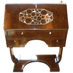Spectacular  Ivoroid Inlaid Original Art Deco Secretary desk 1930's