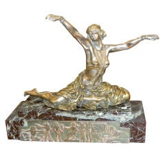 French  Bronze Art Deco Sculpture by Claire Colinet