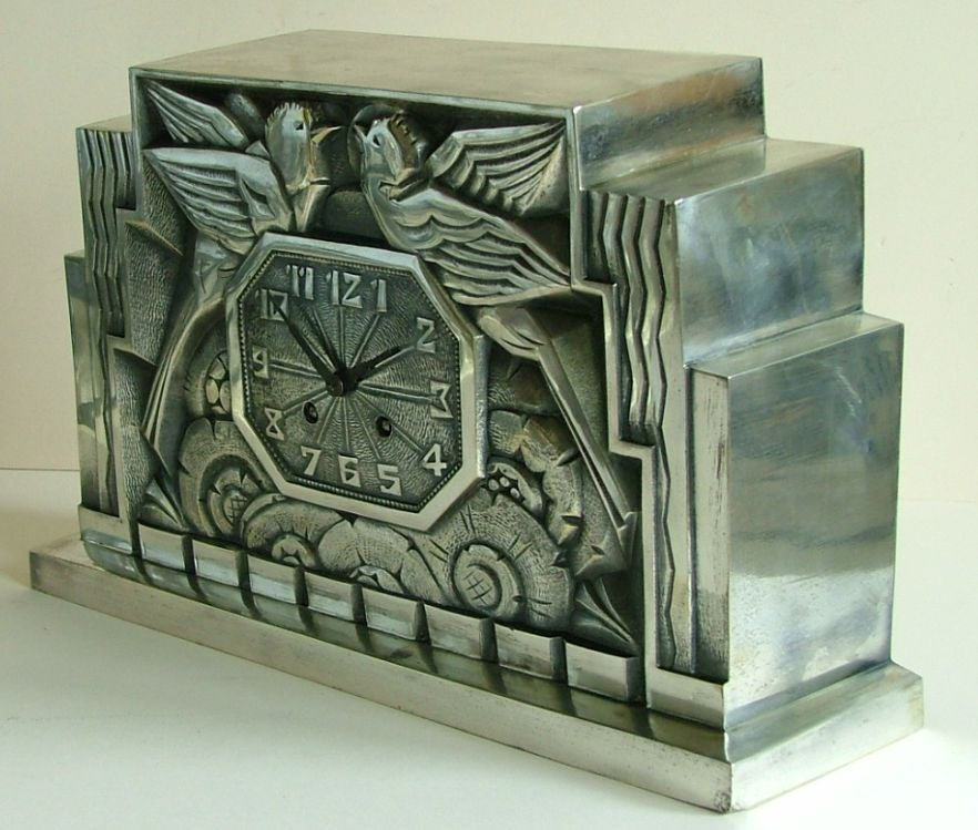 20th Century Fabulous French Art Deco Clock by C. Terras For Sale