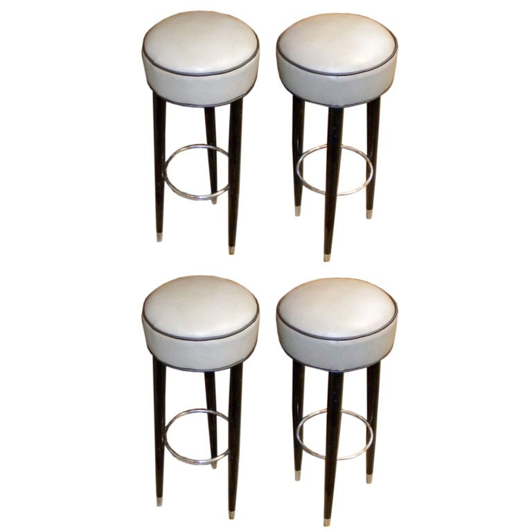 Original Art Deco Bar Stools At 1stdibs