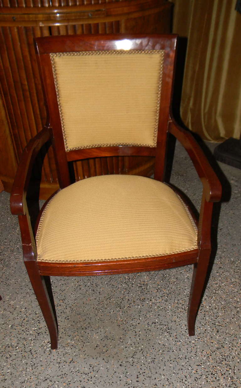 Six Stunning Art Deco Side Chairs French Style Dining For Sale At 1stdibs