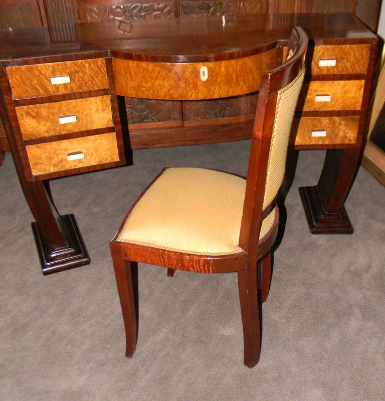 Six Stunning Art Deco Side Chairs French Style Dining For