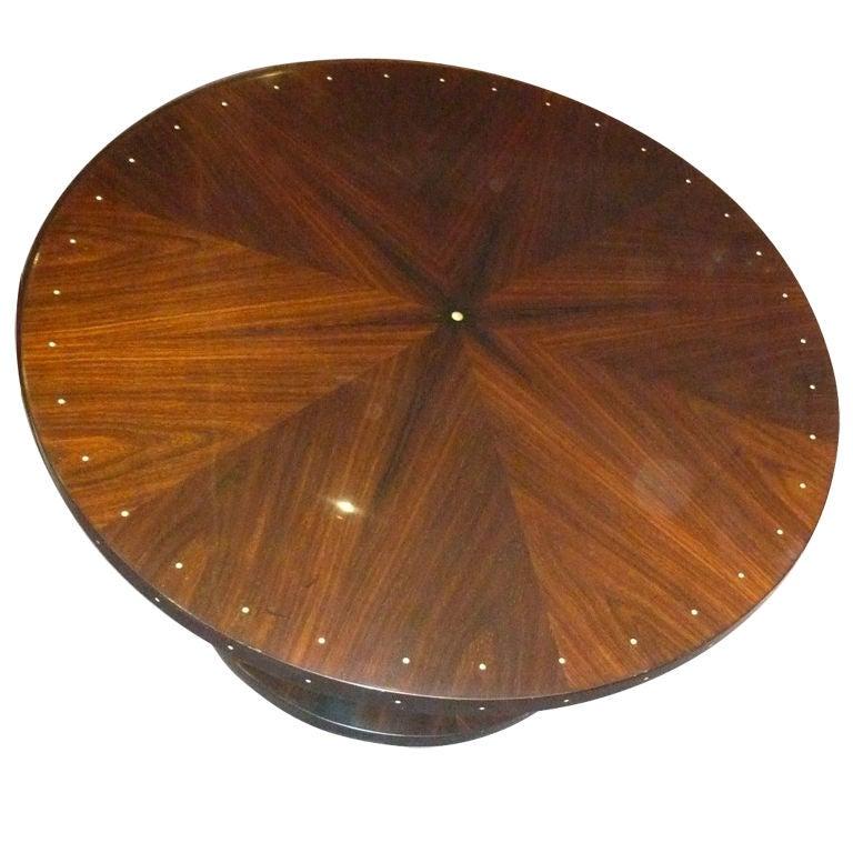 Custom Ruhlmann Style Round Coffee Table