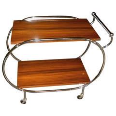 Art Deco Rolling Bar Cart Restored