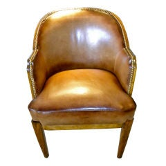 Art Deco Queen Mary Ship Luxe chair