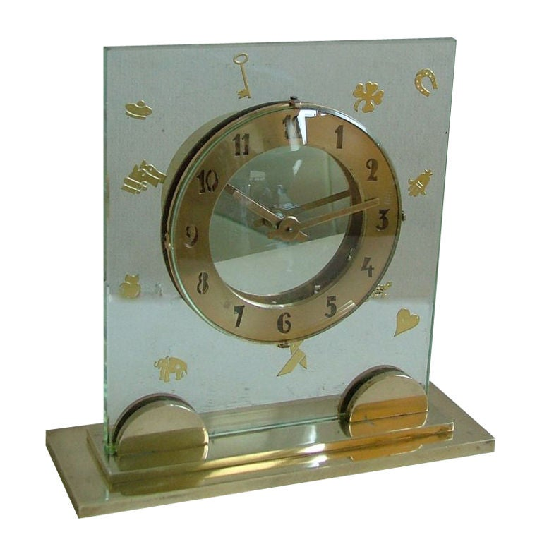 Fabulous high quality unique french art deco clock for Unusual clocks for sale