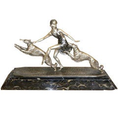"Art Deco Bronze statue, ""The Dance"" by Lormier"