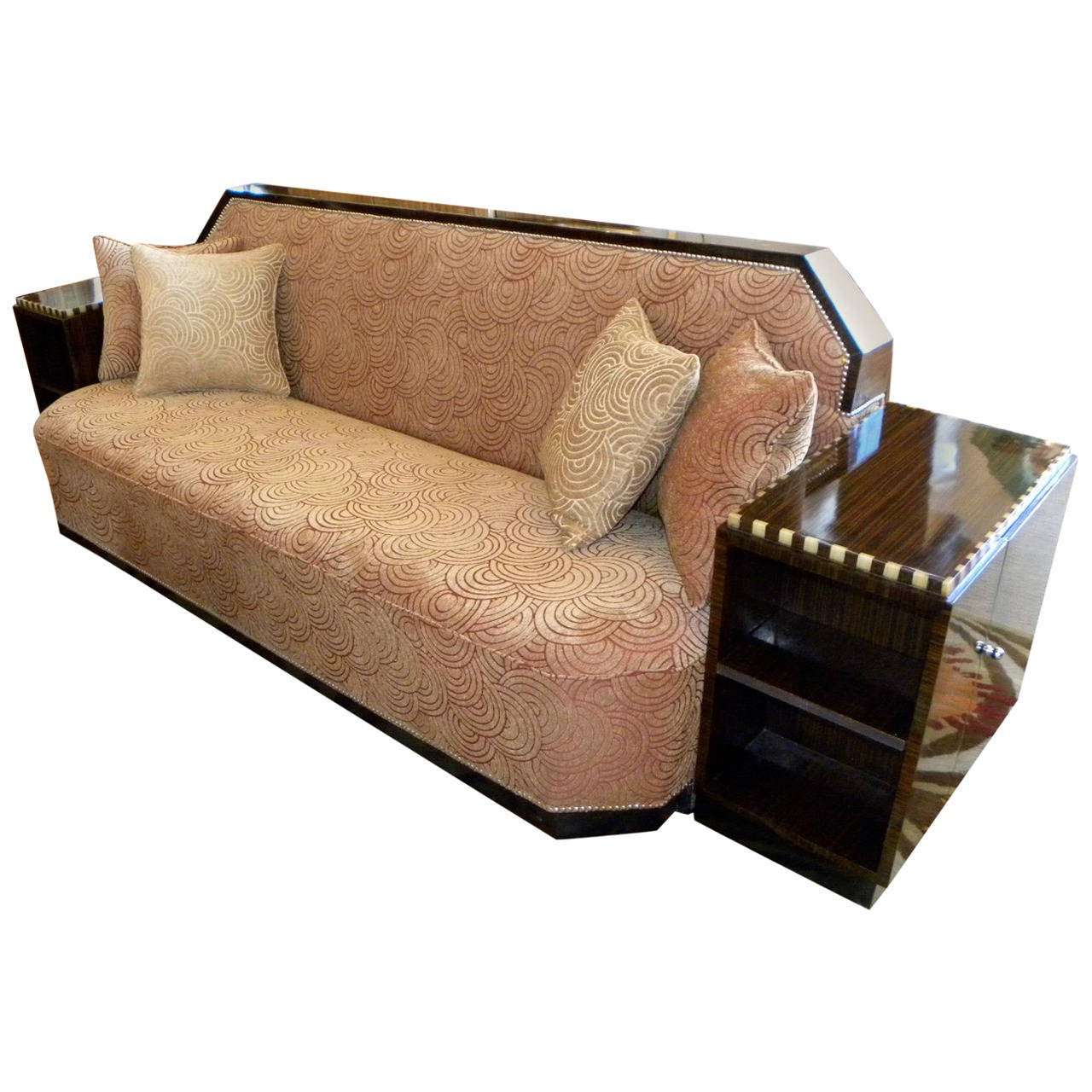 art deco cozy corner or daybed sofa at 1stdibs. Black Bedroom Furniture Sets. Home Design Ideas