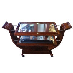 Fabulous Art Deco  bar or desert cart with removable tray