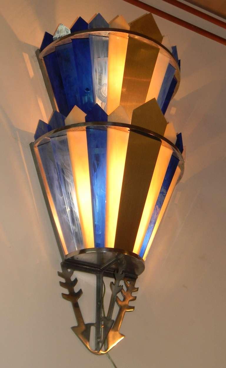 Art Deco Movie Theater Light Sconces at 1stdibs
