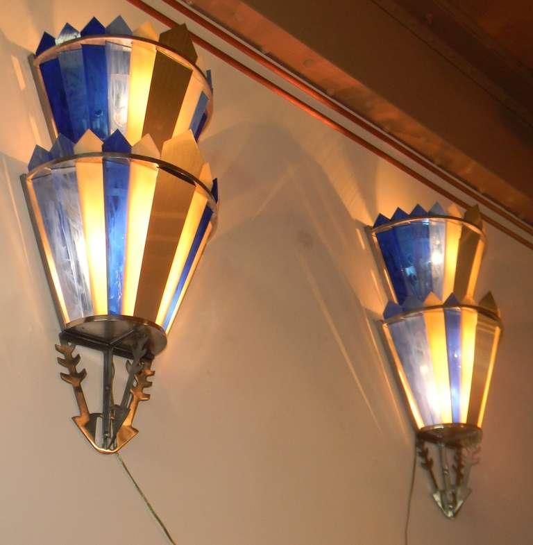 Art Deco Movie Theater Light Sconces Image 4