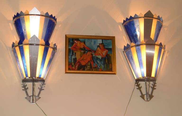 Art Deco Movie Theater Light Sconces At 1stdibs
