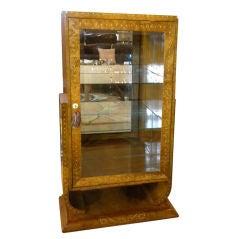 Art Deco Display Curio or Bar Cabinet in Ruhlmann Style