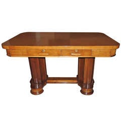 Newly Restored Art Deco Oak Desk Library Table
