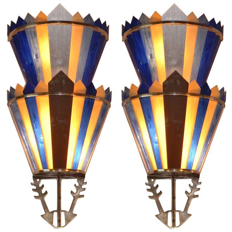 Art Deco Theater Wall Sconces : Art Deco Movie Theater Light Sconces
