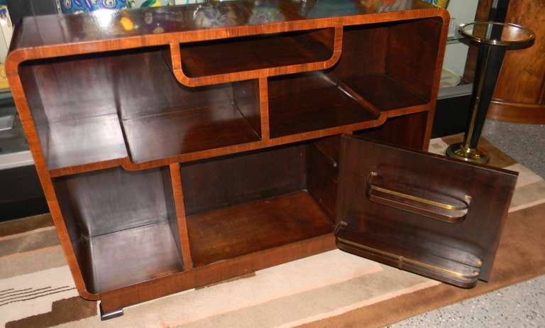 African Carved Exotic Art Deco Bar Storage At 1stdibs