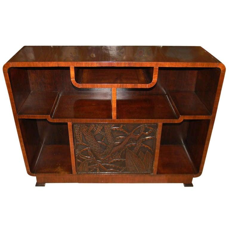 carved deco bar storage at 1stdibs