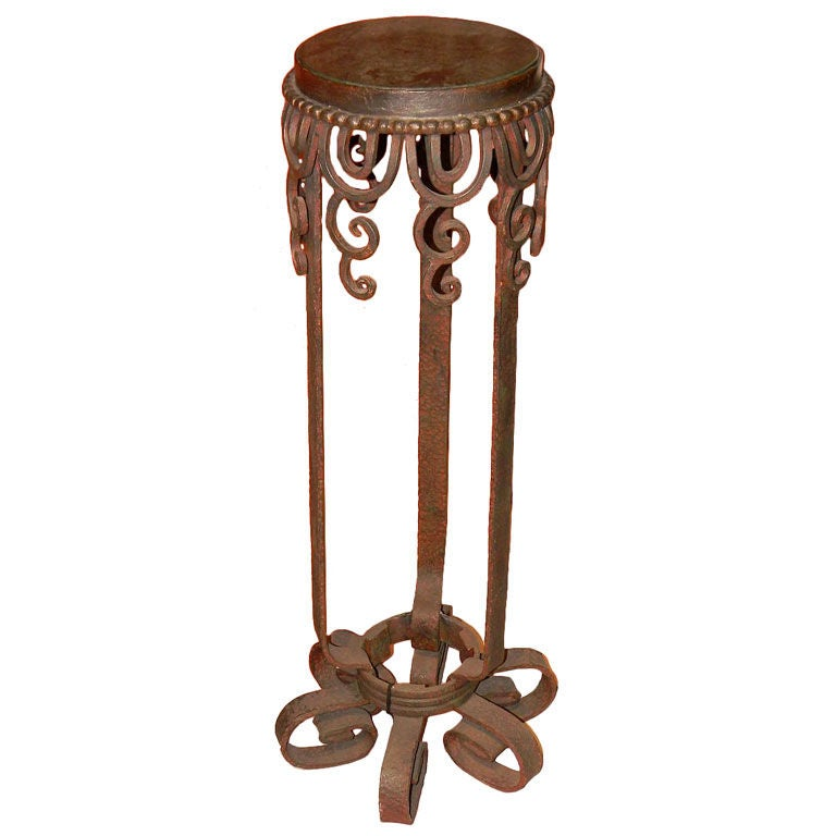 Iron And Marble Display Plant Stand At 1stdibs