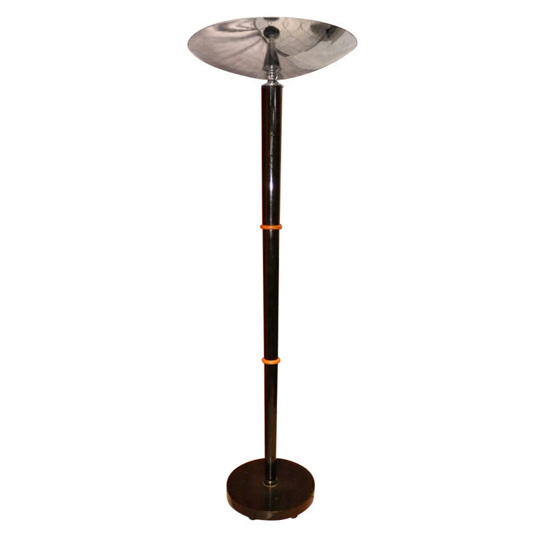classic art deco french black lacquer floor lamp at 1stdibs. Black Bedroom Furniture Sets. Home Design Ideas