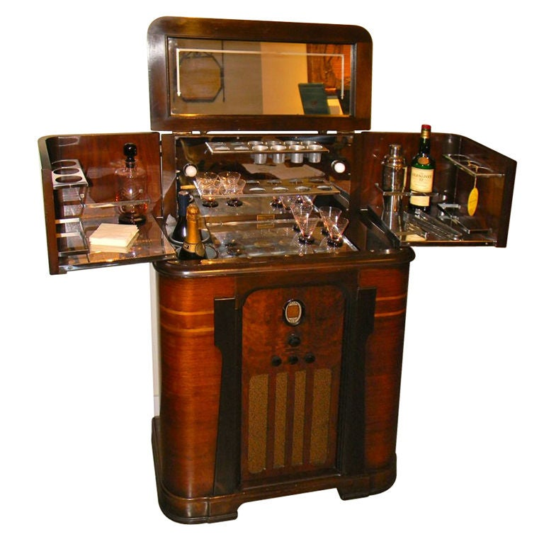 American Art Deco Radio Bar Radiobar At 1stdibs