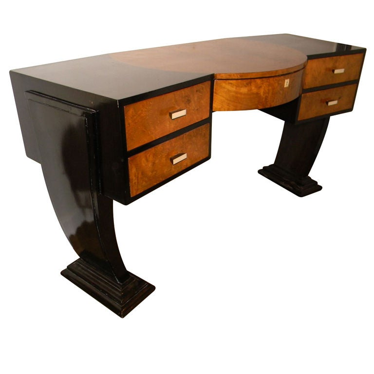 Unique custom original hollywood art deco inspired desk for Deco meuble furniture richibucto