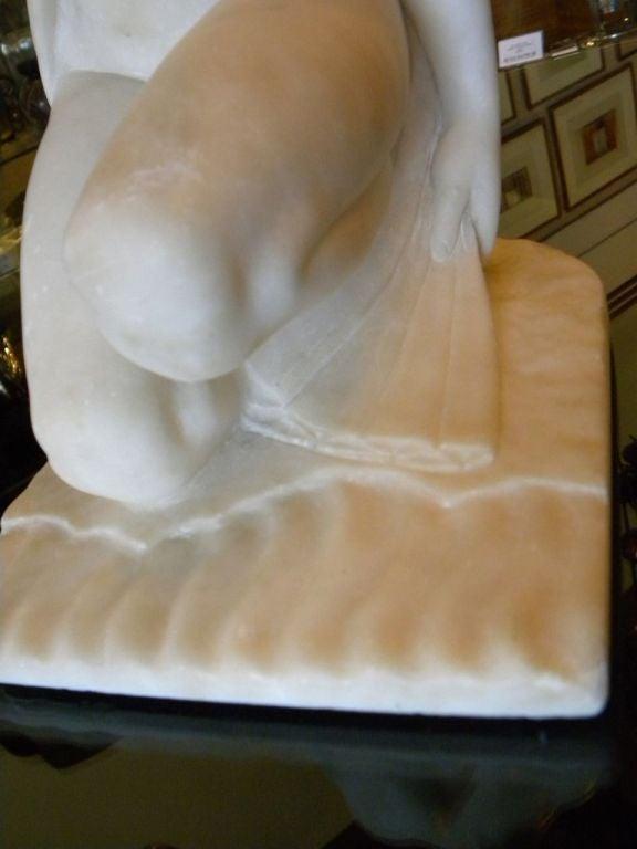 Original Art Deco Nude in Marble by Joe Descomps For Sale 2