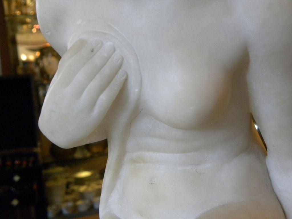 Original Art Deco Nude in Marble by Joe Descomps For Sale 3