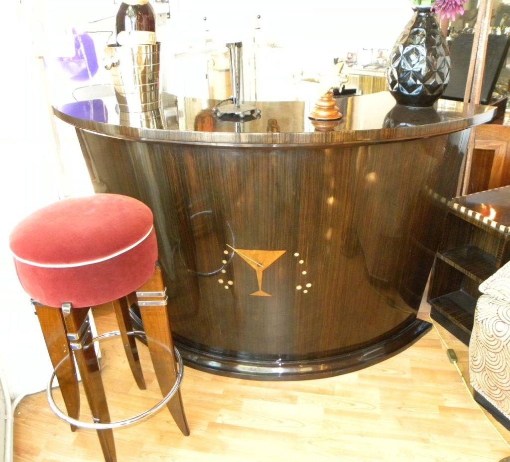 great art deco martini bar at 1stdibs. Black Bedroom Furniture Sets. Home Design Ideas