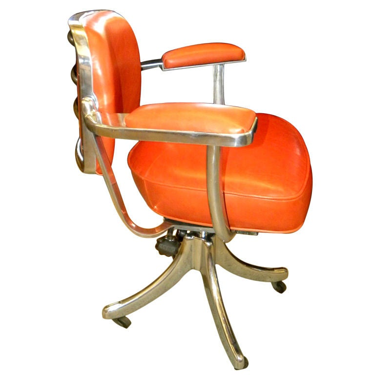 VINTAGE TANSAD STREAMLINE INDUSTRIAL SWIVEL DESK CHAIR at