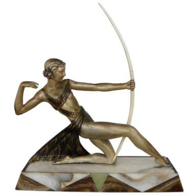 Diana the Huntress French statue