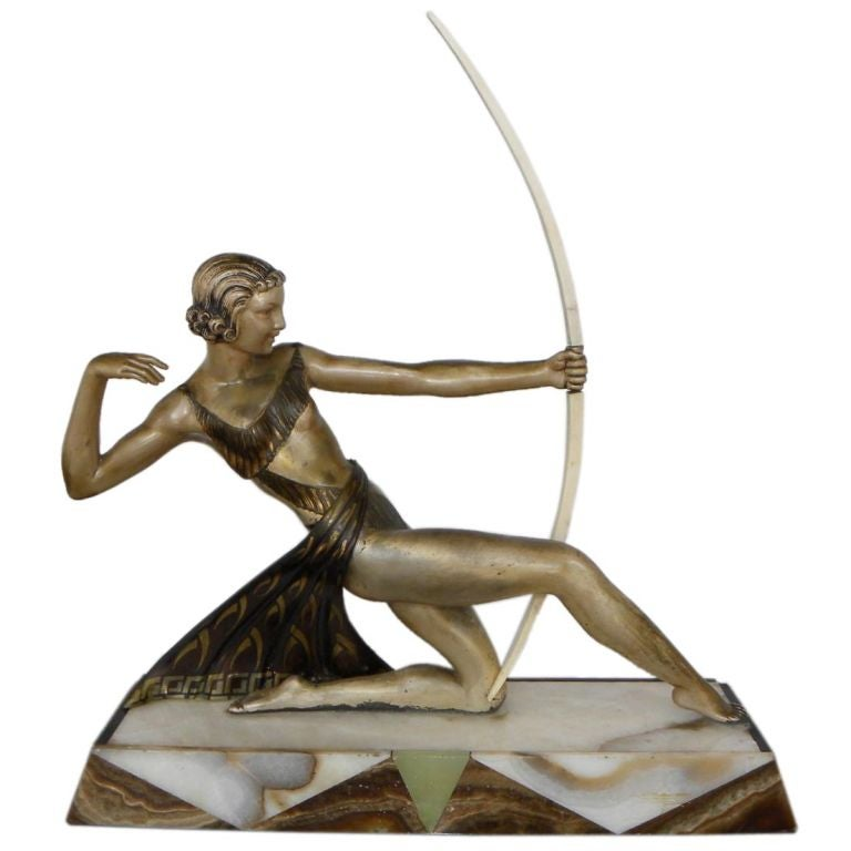 Diana the Huntress French statue 1