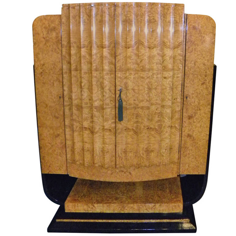 English Art Deco Epstein Bar Liquor Storage Cabinet At 1stdibs