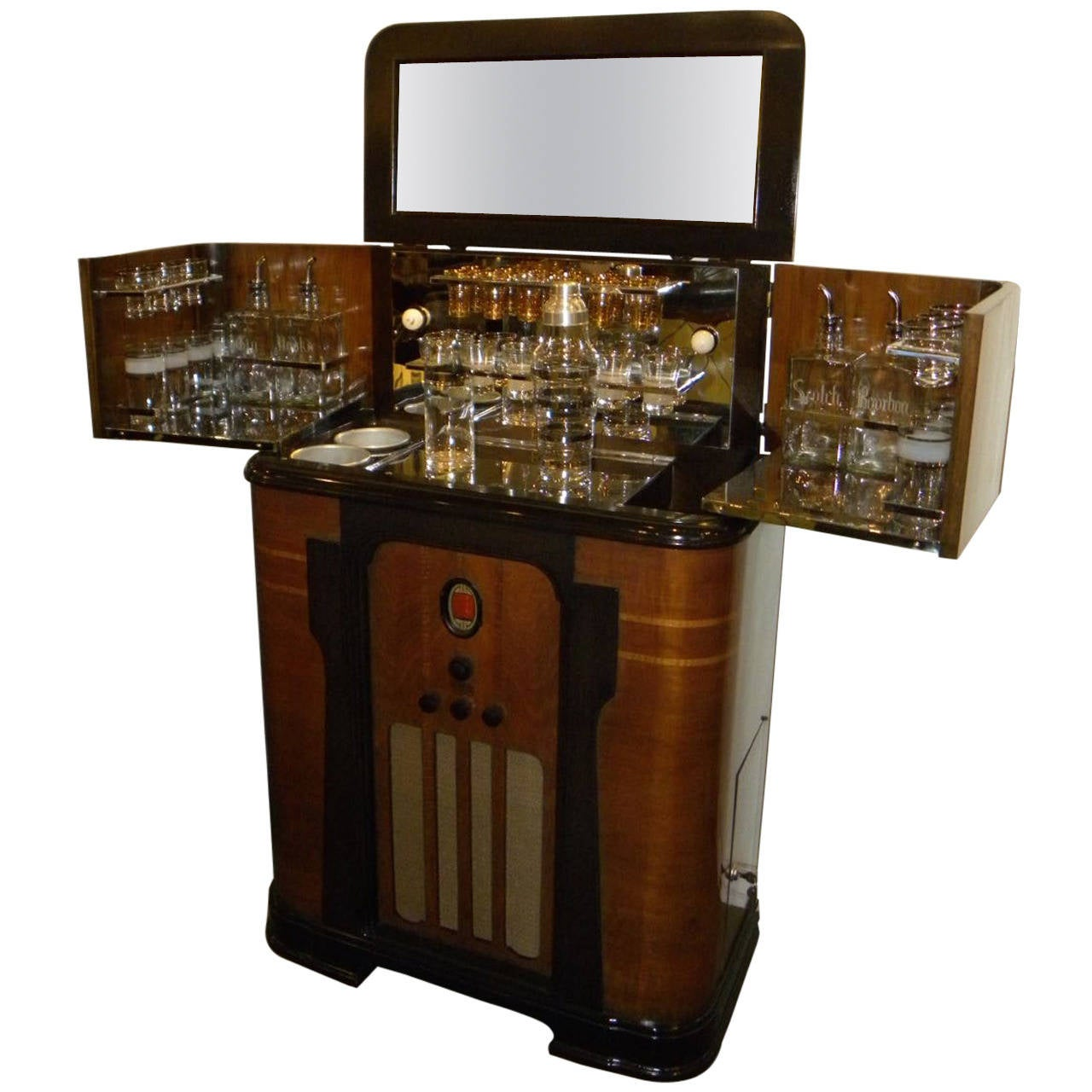 Art deco philco radio bar 1936 at 1stdibs - Deco bar design ...
