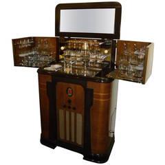 Art Deco Philco Radio Bar, 1936