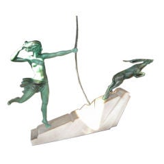 Art Deco Diana Huntress and Leaping Antelope