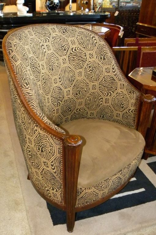 Offered here today is a fantastic shape and original design of French club or side chairs & Pair of Original of French Salon Chairs in Style of Paul Follot at ...