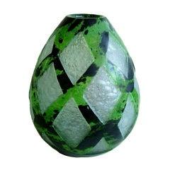 French Art Deco Modernist Acid Etched Degue Art Deco Glass Vase