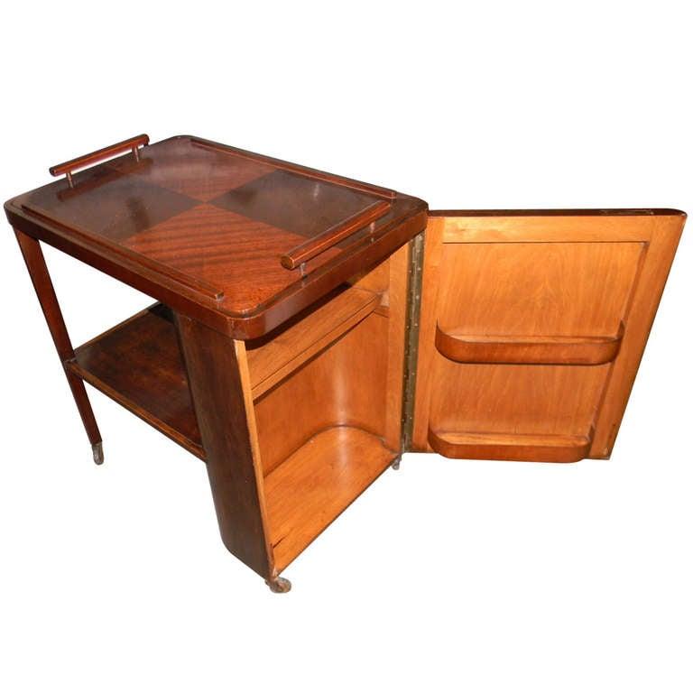 Original Art Deco Bar Or Serving Cart At 1stdibs