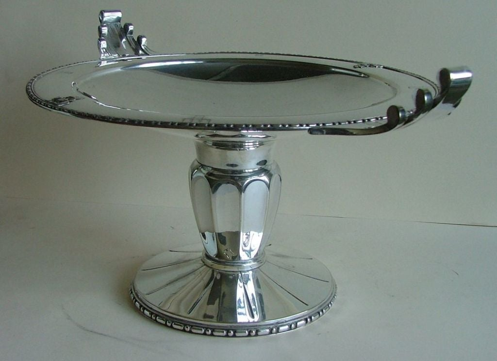 Exceptional Silver Plated Bronze Tazza or Coupe, French Art Deco For Sale 1