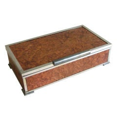 French Gustave Keller Paris Art Deco Cigarette Trinket Box