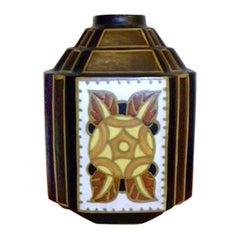 """Charles Catteau """"La Louviere"""" Hexagon Vase"""