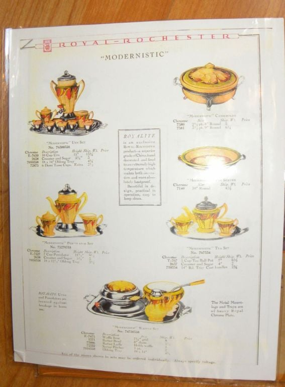 Extremely Rare Royal Rochester Modernistic Coffee Service 10