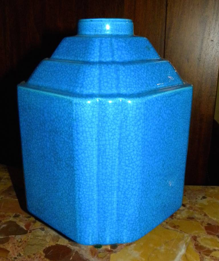 Belgian Art Deco Modernist Vase Shape Boch Freres Catteau For Sale