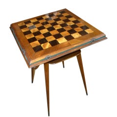 Fabulous Art Deco Game And Card Table Combo