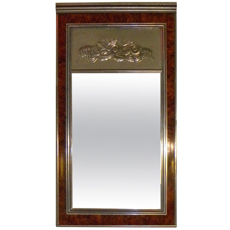 Art Deco Regency Style Large Mirror