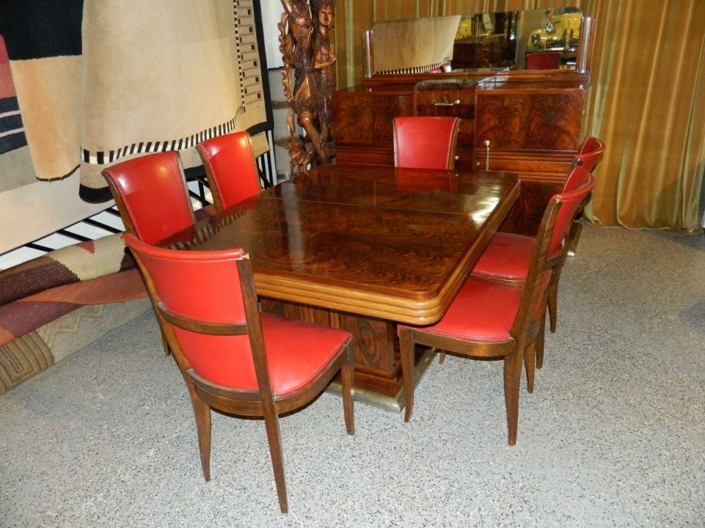 Original French Art Deco Modernist Dining Suite 1930s At 1stdibs Rh Com Gothic Chairs Chair Styles